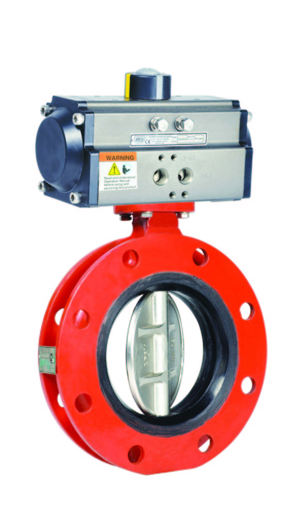 Wafer Double Flange Butterfly Valve